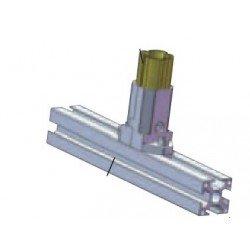 Connecteur profilé aluminium rond / profilé carré - En T