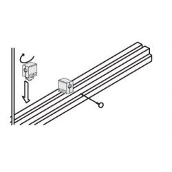 Fixation multiblock pour panneau 5 mm - profilé à fente de 8 mm
