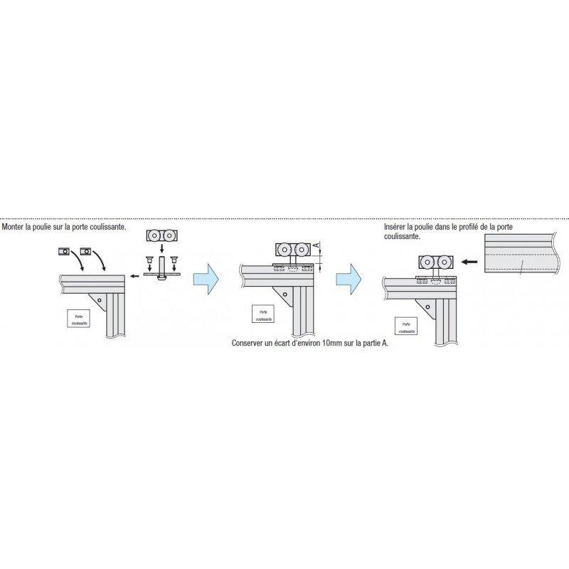 Aluminium profile 30x30 8mm slot – for sliding door