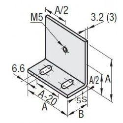 Support de panneau pour profilé à fente de 8 mm