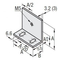 Support de panneau pour profilé à fente de 10 mm