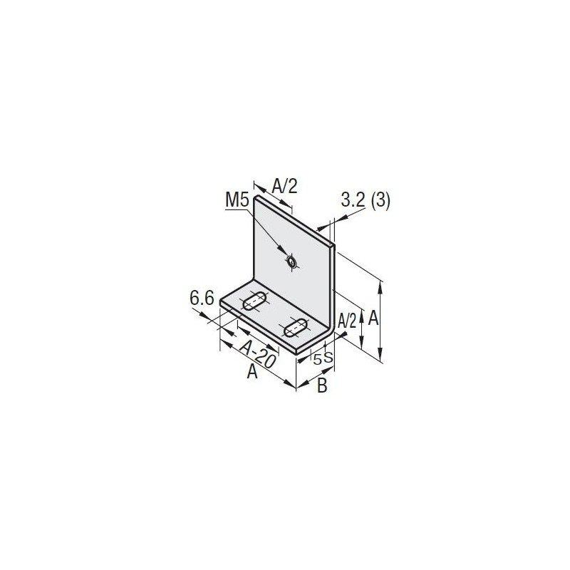 Panel holder for 10mm slot profile