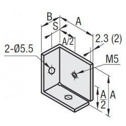 Support de panneau en coin pour profilé à fente de 6 mm