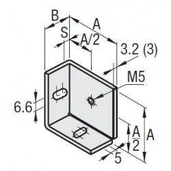Support de panneau pour profilé à fente de 6 mm