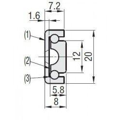 Glissière téléscopique pour charge légère - course de 60 à 300 mm