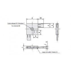 Raccord pour profilé cloison épaisseur 5mm - Largeur 40mm
