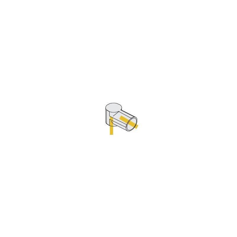 Raccords en plastique blanc avec trou de coté