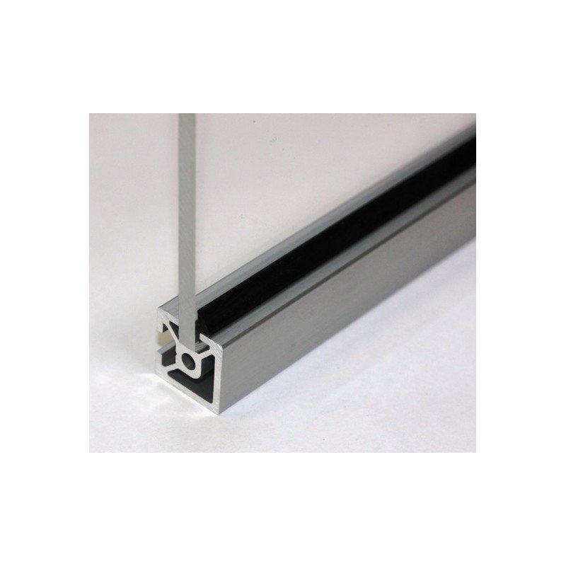 Joints profil s aluminium fente de 6 mm pour panneau de 3 mm noir 6m syst al for Profile aluminium noir