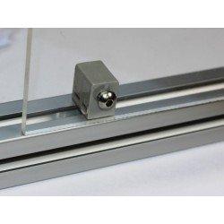 Fixation pour panneau 3 ou 5 mm - profilé à fente de 6 mm