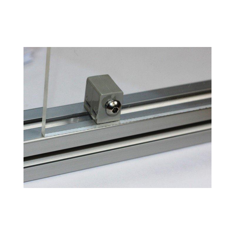 Fixation multiblock pour panneau 5 mm - profilé à fente de 10 mm