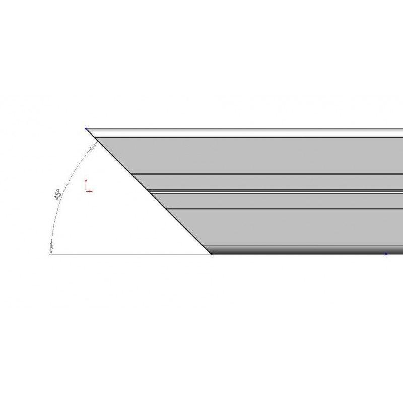 Coupe à 45° pour profilé 20x20