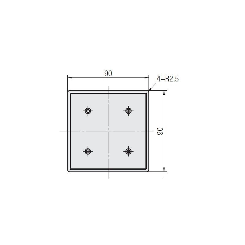 profilés aluminium 90x90 fente de 10mm - Gris