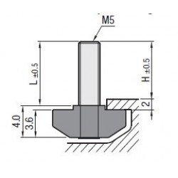 Boulons de fixation M5 pour profilés à fente de 6 mm