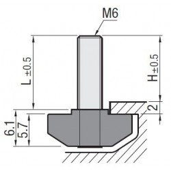 M6 fastening bolts for profiles with 8mm slot
