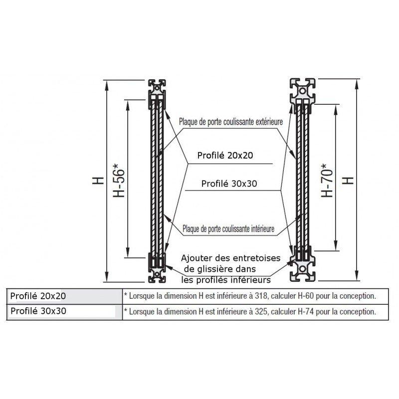 Profil aluminium 20x20 fente de 6 mm pour panneau for Profile alu pour veranda