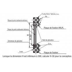 Profilé aluminium 20x20 fente de 6 mm pour porte coulissante