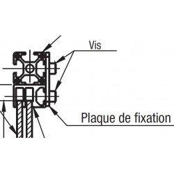 Plaque de fixation pour rail de glissière