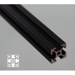 Aluminium Profile 6mm Slot 20x20 Black Anodized