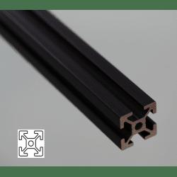 Profilé aluminium 20x20 fente 6 mm anodisé noir