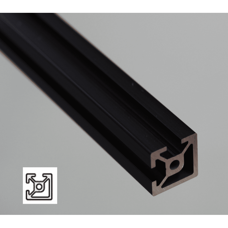 Aluminium Profile 6mm Slot 20x20 Black Anodized