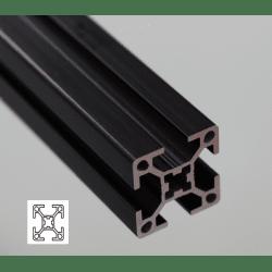 Profilé aluminium 30x30 fente 8 mm anodisé noir