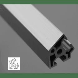 Profilé aluminium 30x30 angle de 60° - fente de 8 mm