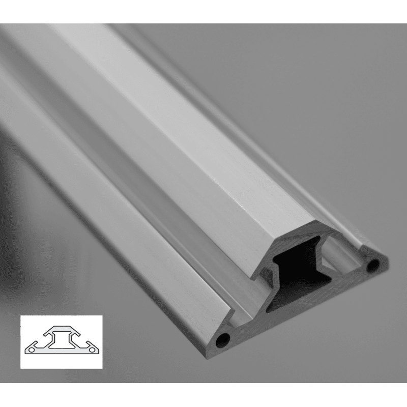 triangular aluminium profile 30x30 8mm slot syst al. Black Bedroom Furniture Sets. Home Design Ideas
