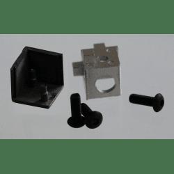 Raccord d'assemblage - 3 profilés 6 mm - Noir