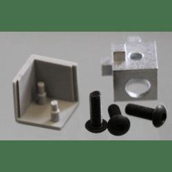 Raccord d'assemblage - 3 profilés 6 mm - Gris