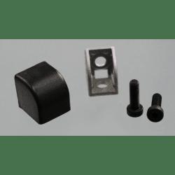 Raccord d'assemblage - 2 profilés 6 mm - Noir