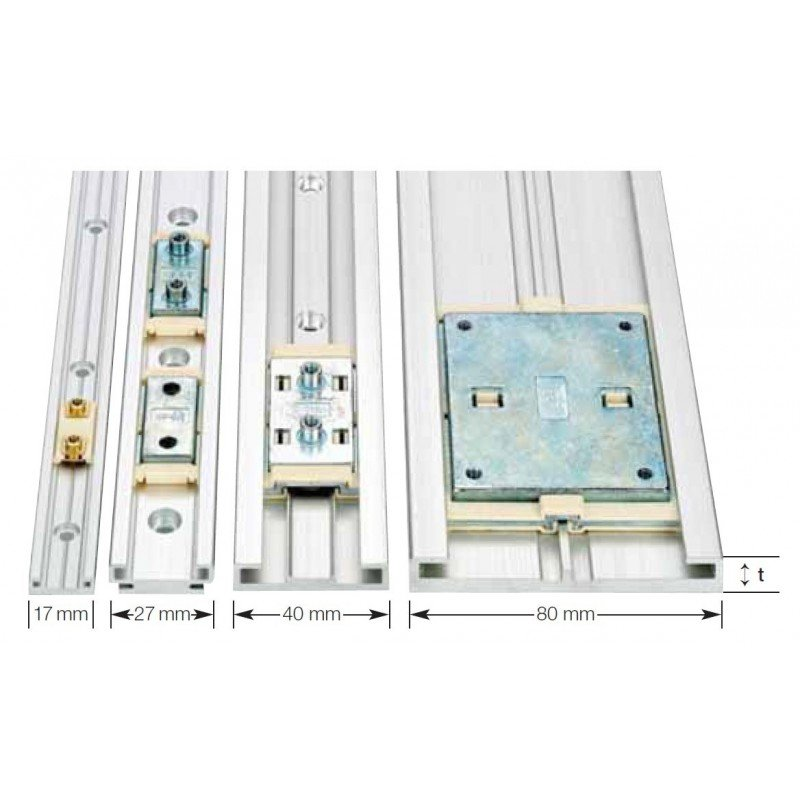 Rail de guidage linéaire largeur 17 mm