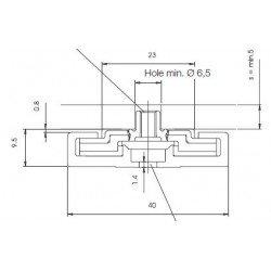 Rail de guidage linéaire largeur 40 mm longueur 1000 mm