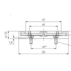 Rail de guidage linéaire largeur 80 mm longueur 1000 mm