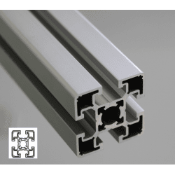 Aluminium profile 45x45 10mm slot – light