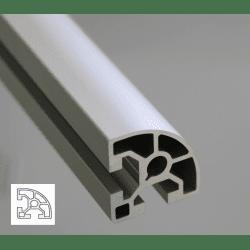 Profilé aluminium 40x40 arrondi à fente de 10mm