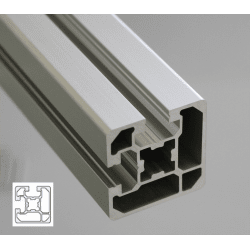 Aluminium profile 45x45 10mm slot