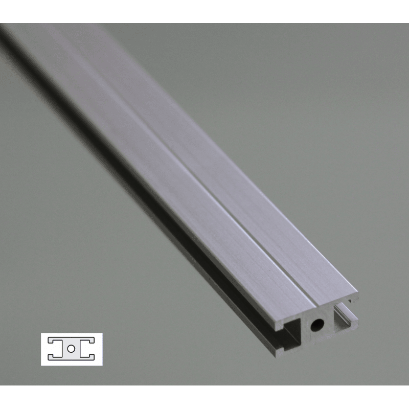 Flat Aluminium Profile 6mm Slot 20x10