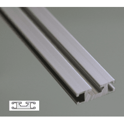Profilé aluminium plat 30x10 - fente de 6 mm