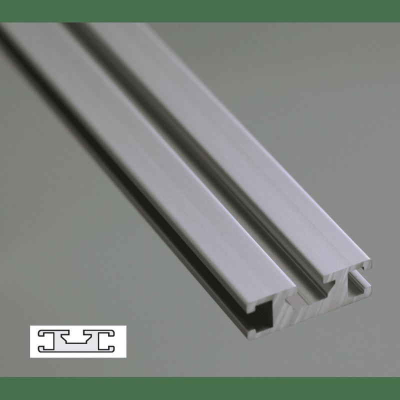 Profil aluminium plat 30x10 fente de 6 mm syst al - Profile aluminium u ...