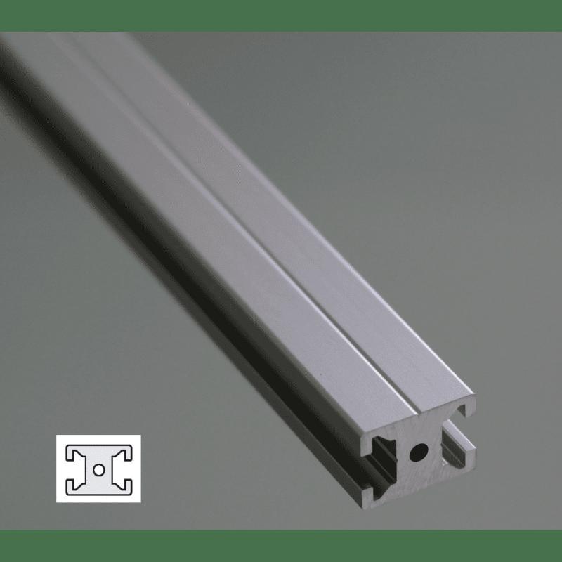profil aluminium plat 20x15 fente de 6 mm syst al. Black Bedroom Furniture Sets. Home Design Ideas