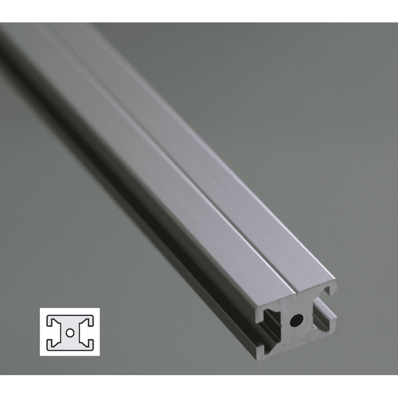 Profilé aluminium plat 20x15 - fente de 6 mm