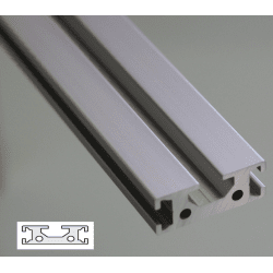 Flat Aluminium Profile 6mm and 8 mm Slot 40x15