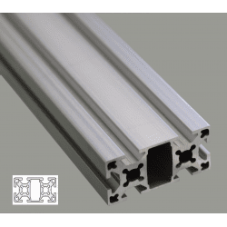 Aluminium Profile 6mm Slot 25x50
