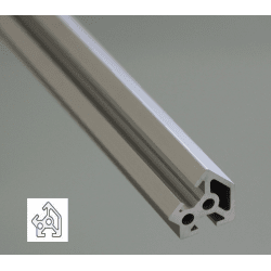 Aluminium Profile 6mm Slot 20x20 Angle 45°