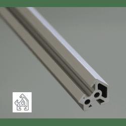 Profilé aluminium 20x20 angle de 45° - fente de 6 mm