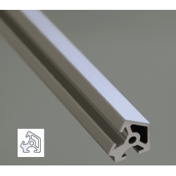 Aluminium Profile 6mm Slot 20x20 Angle 60°