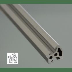 Profilé aluminium 20x20 angle de 30° - fente de 6 mm