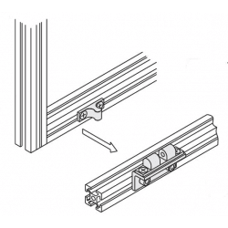Catch for aluminium profile 6mm slot + fixings
