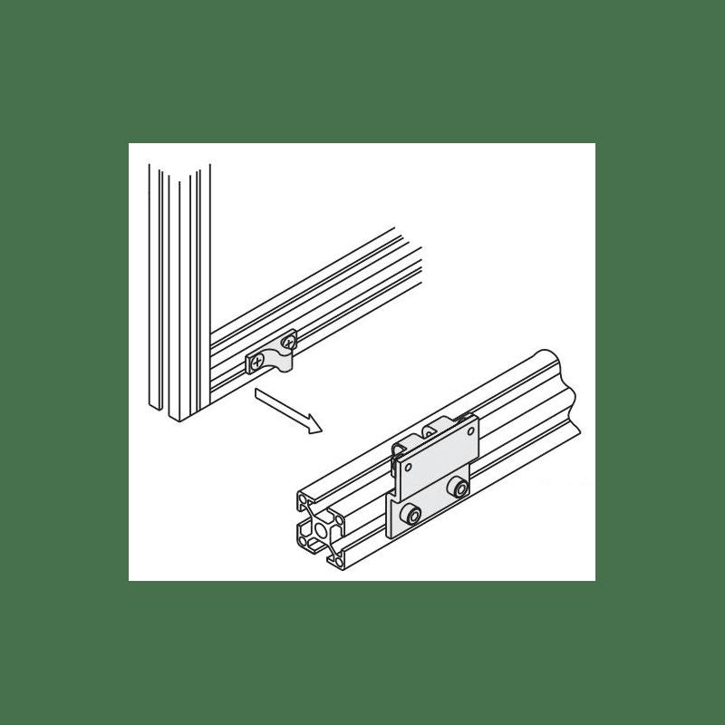 loquet pour profilé aluminium fente 8mm + visserie