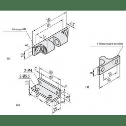 loquet pour profilé aluminium fente 6mm + visserie
